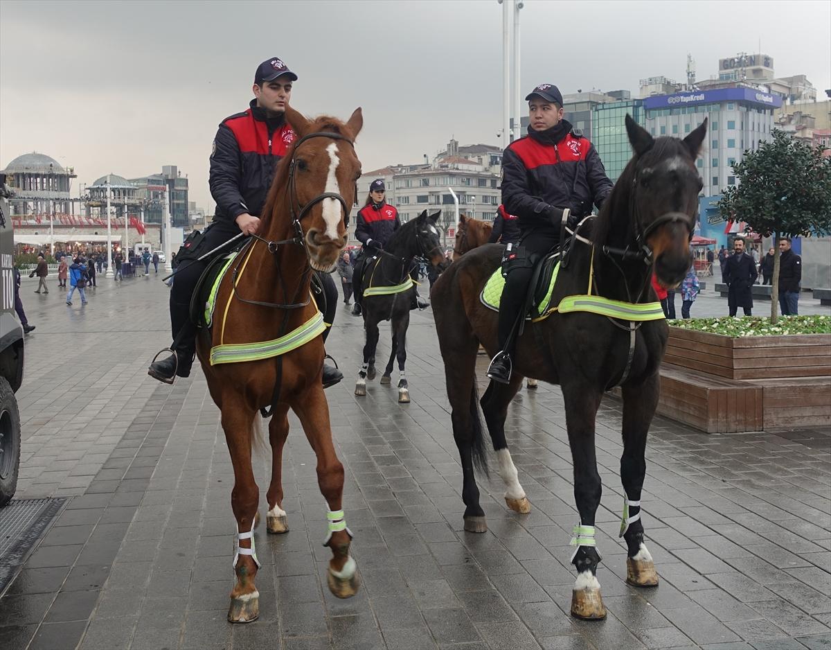 Yılbaşı gecesi ilk kez atlı polisler görev yapacak