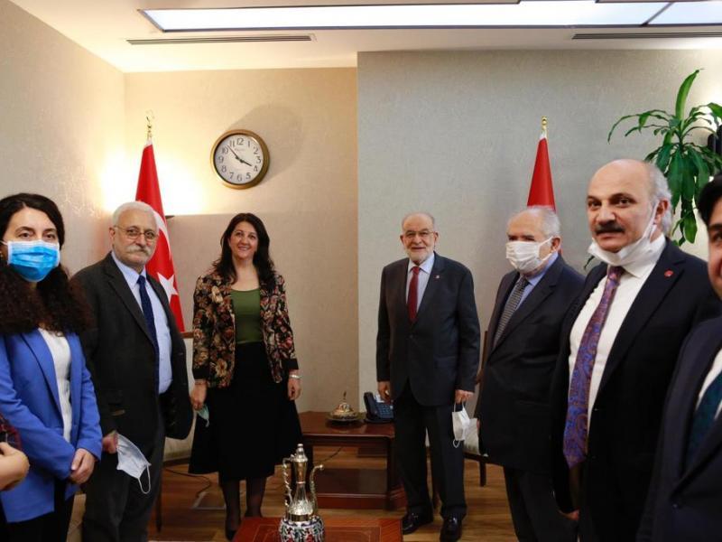 HDP Eş Genel Başkanı Buldan, Saadet Partisi Genel Başkanı Karamollaoğlu'nu ziyaret etti | Independent Türkçe