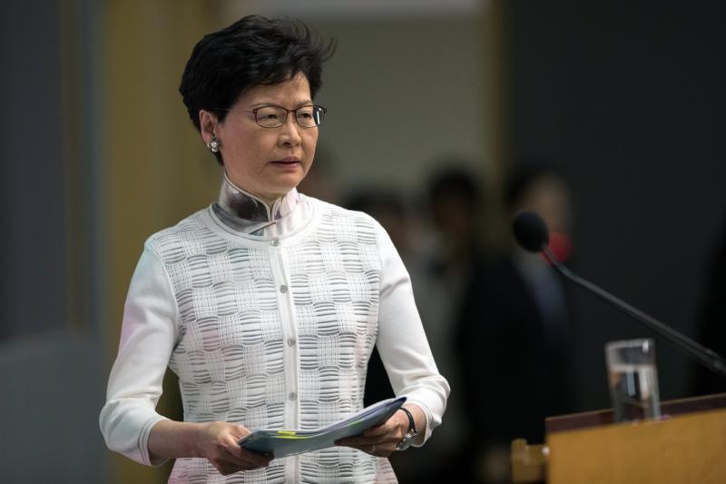 Hong Kong başkanı Carrie Lam İHA