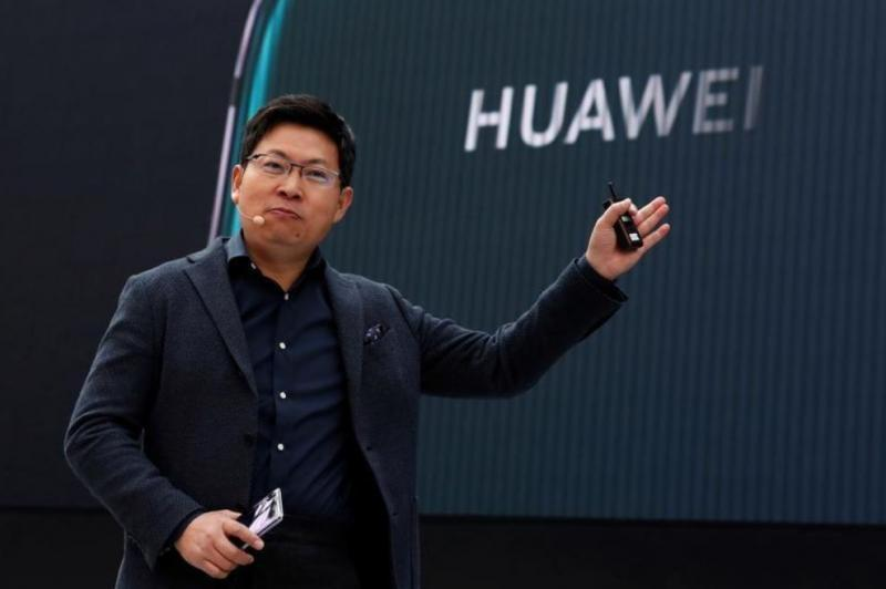 Richard Yu, CEO of the Huawei Consumer Business Group,  Paris, France March 27, 2018. REUTERS.JPG