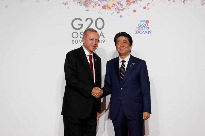 G20 ZİRVESİ ERDOĞAN Japonya Başbakanı Şinzo Abe AA.jpg