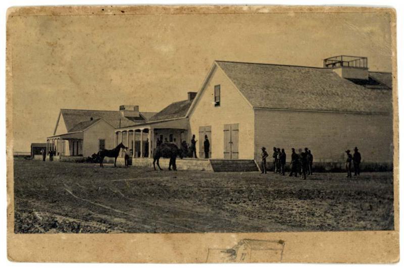 4 1863 yılına ait fotoğrafta Kaliforniya Eyaleti'ndeki develerden biri görülüyor.jpg