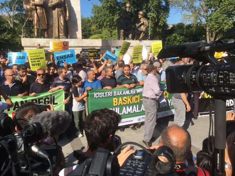 Suriyeliler eylem