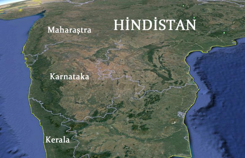 hindistan harita google earth