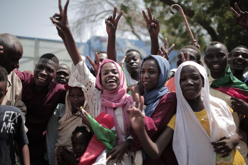 sudanlılar gösteri AFP
