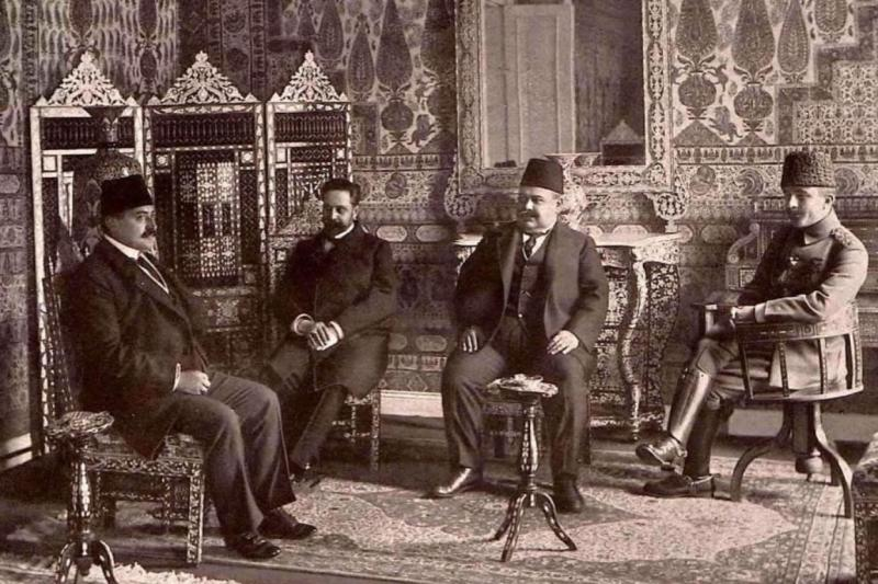 Talat Paşa, Kara Kemal, Halil Sami ve Enver Paşa.jpg