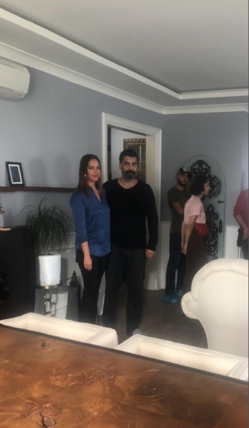 Lale Elmacıoğlu- Özgür Tüzer- film seti.JPG