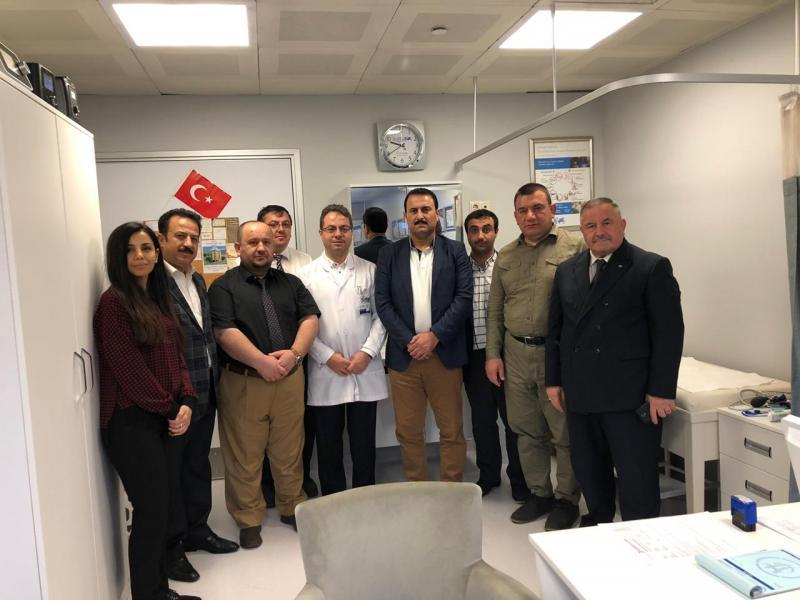 IKB heyeti cemaate ait Hisar Hospital hastanesini ziyaret ederken