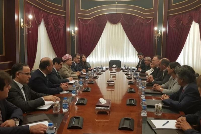 Temelli başkanlığındaki heyet Barzani ile görüştü