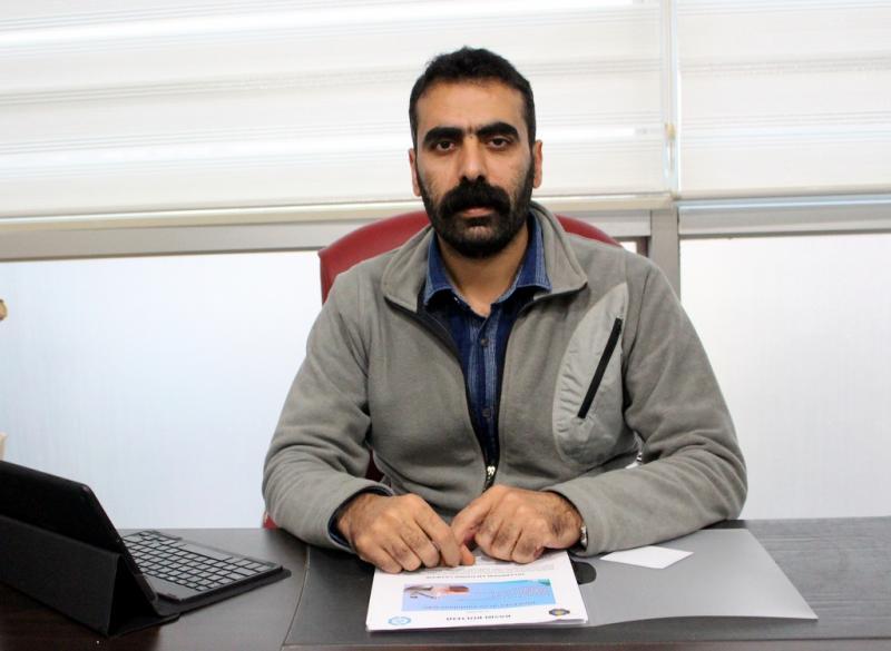 TMMOB Diyarbakır İl Koordinasyon Kurulu Sözcüsü Doğan Hatun.JPG