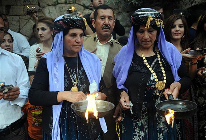 Ezidilerin Kış Kırkı Bayramı'nın kutlamaları başladı