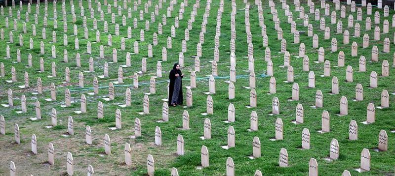 Halepçe'de katledilenlerin defnedildiği mezarlık