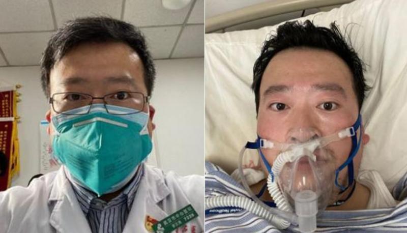 Çinli göz doktoru koronavirüs hekim Li Wenliang kolaj Twitter.jpg
