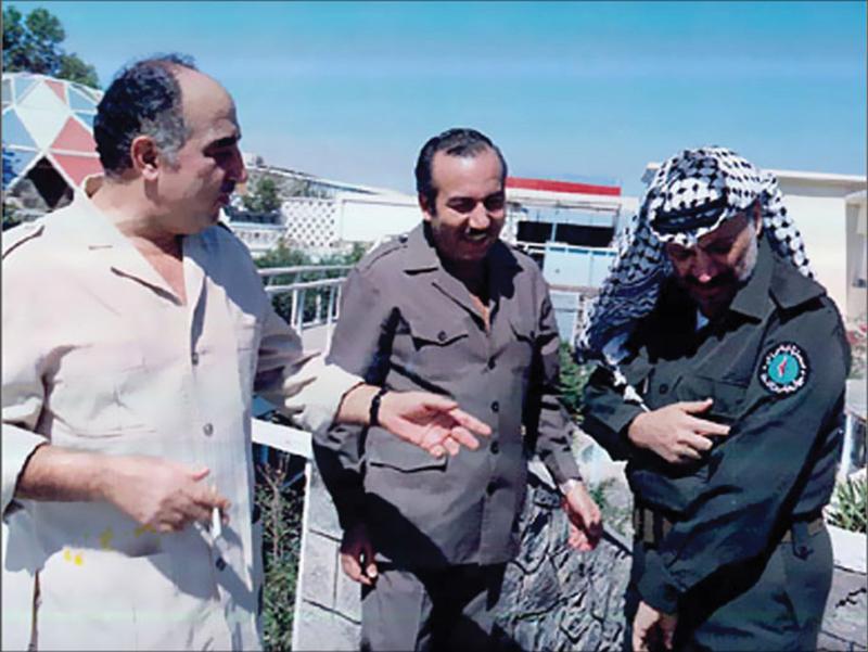 El Fetih örgütünün troykası, Üçlü yöneticisi- Arafat, Ebu Cihad ve Ebu İyyad.jpg
