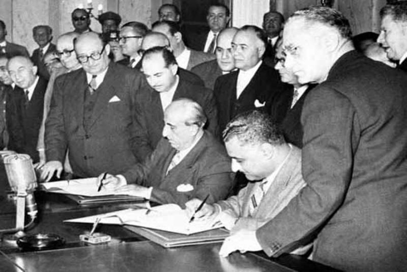 1958 Birleşik Arap Cumhuriyeti'nin Kuruluşu töreni.jpg