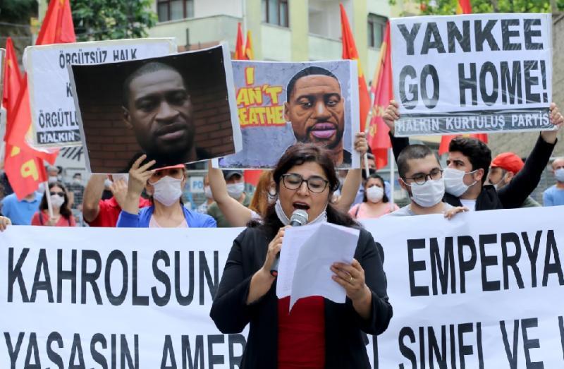 İstanbul ABD Konsolosluğu George Floyd protesto AA.jpg