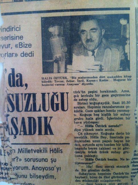 Halis Öztürk'ün -Bilseydim Anayasa ayaklarımın altında çiğnemezdim ifadesi haber olmuş,.jpg