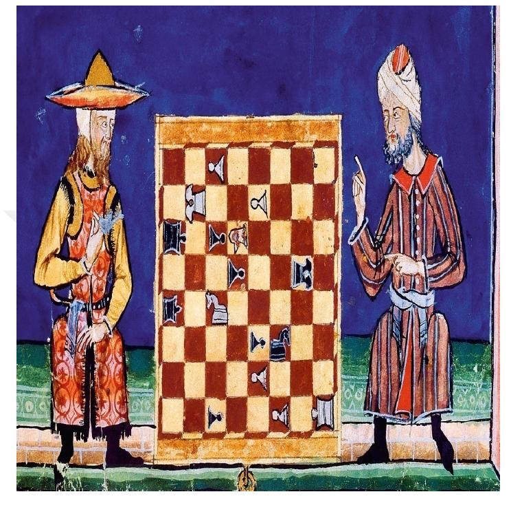Endülüste satranç oynayan hıristiyan ve müslüman.png