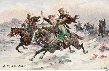 Akına giden Kürt Savaşçılarının tasviri.jpg