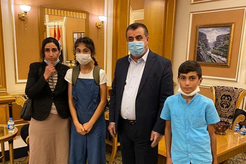 Şengal'den kaçırılıp Kırşehir'de bulunan Ezidi kardeşler 6 yıl sonra ailesine kavuştu