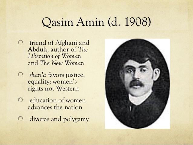 Kasım Emin, Cemalledin Afgani ve Muhammed Abdu'nun arkadaşı, kadının kurutuluşu savunanı diye tanıtılmış-.jpg