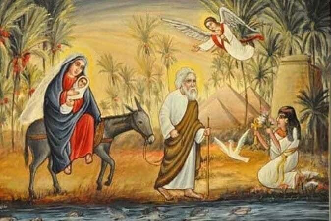 İnanışa göre meleklerin gözetiminde geçen yolculuk ve halkın karşılaması tasviri.jpg