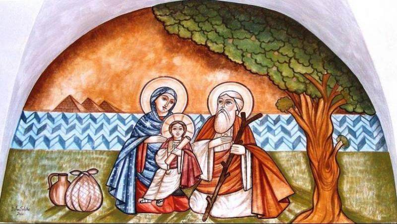 Kutsal Aile, İncir Çınarı gölgesinde dinleniyor .jpg