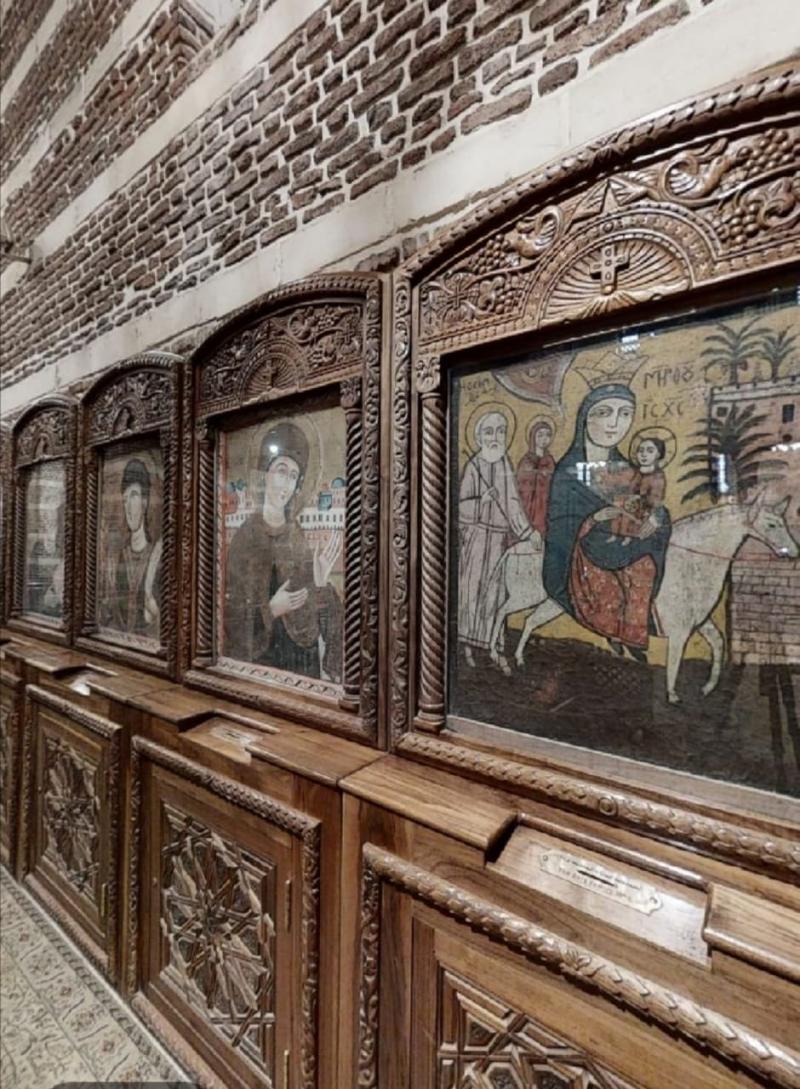 Kuyulu Mağara Kilisesi'nde ikonların tarihi hayli eskidir-Kaynak-Mısır Tarihi Eserler Bakanlığı-001.jpg