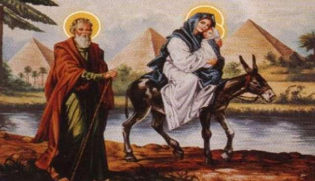 Meryem Ana, Hz. İsa ve Yusuf Naccar'ın yolculuk tasviri.jpg