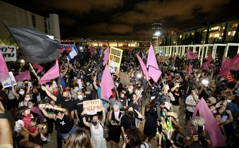 İsrail'de Netanyahu karşıtı gösteriler AA.jpg