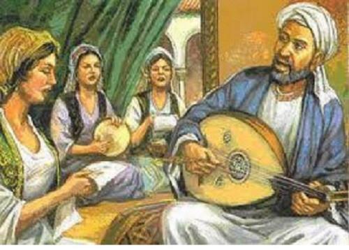 Ziryab, Saray kadınlara müzik dersi veriyor.jpg