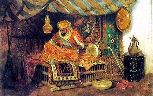 Ziryab'ın müzik çalışmasını tasvir eden bölüm.jpg