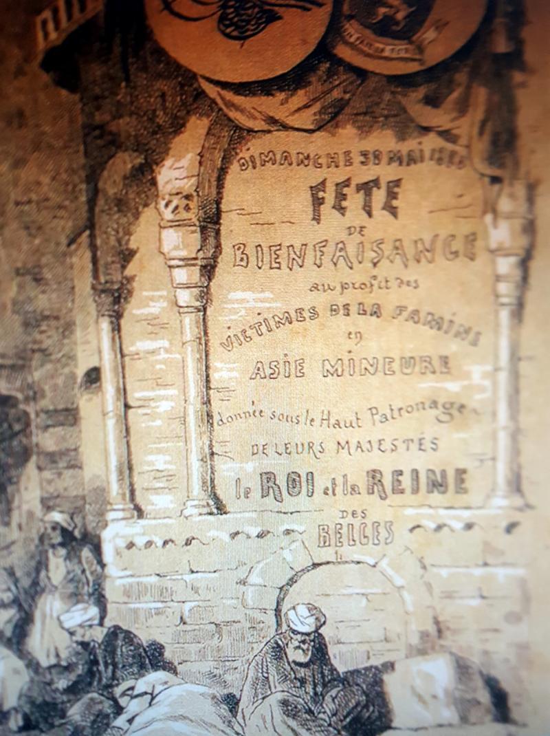 1880 kıtlığı-Bâb-ı  âli ve Belçika hükümetlerinin işbirliğiyle, Biçare Ermeni ve Müslüman vatandaşları menfaatine Brüksel'de düzenlenen bir konserin duyuru bnoşürü-kaynak-BOA ve Toplumsal Tarih dergisi.jpg