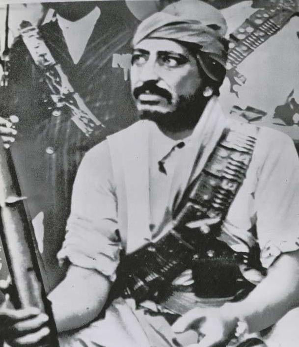 Devrik Imam Kral  Muhammed el Bedr, cumhuriyet nejimine karşı isyan sırasında -31 Ekim 1962.jpg