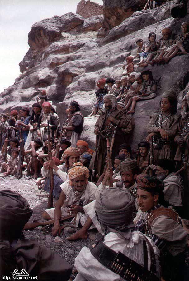 Yemen 1962-İç savaşta Kral yanlısı isyancı  aşiret milisleri.jpg