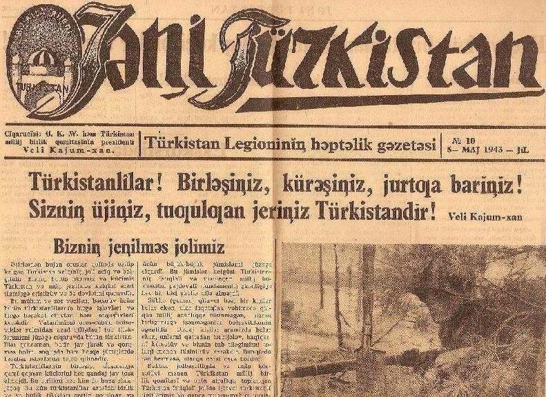 Yeni Turkistan gazetesi, Nazi Türkistan Lejyonundan bahsediyor.jpg