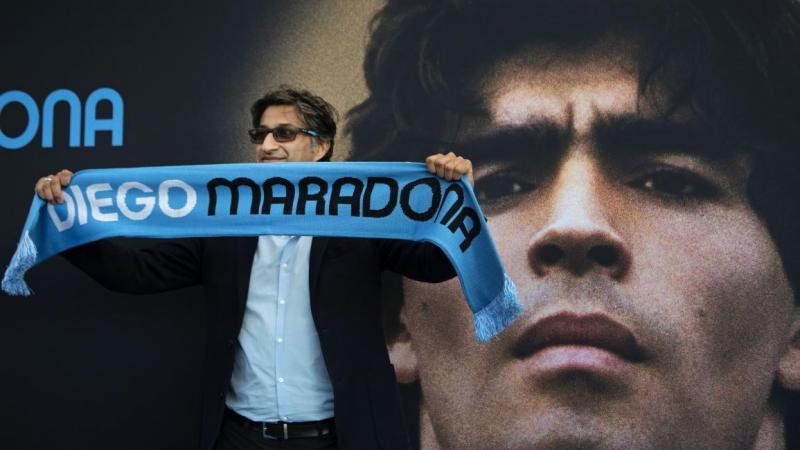 İngiliz Yönetmen Kapadia, Maradona filmini Amsetrdam'daki gösterimi sırasında-France Presse.jpg