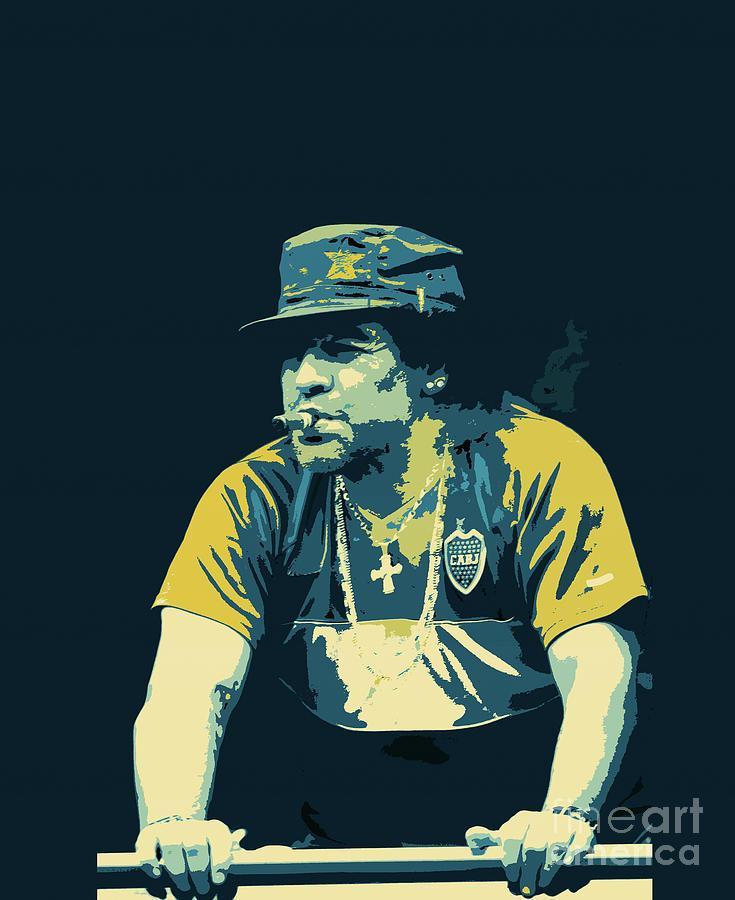 Maradona'yı pop-art  tarzında resmeden bir tasarım .jpg
