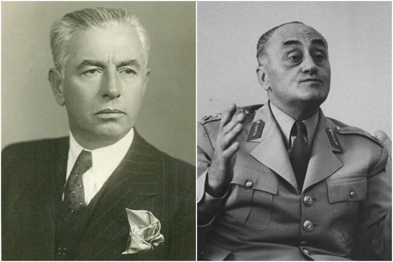 Profesör Ali Fuat Başgil (solda) ve Tuğgeneral Sıtkı Ulay (sağda).jpg