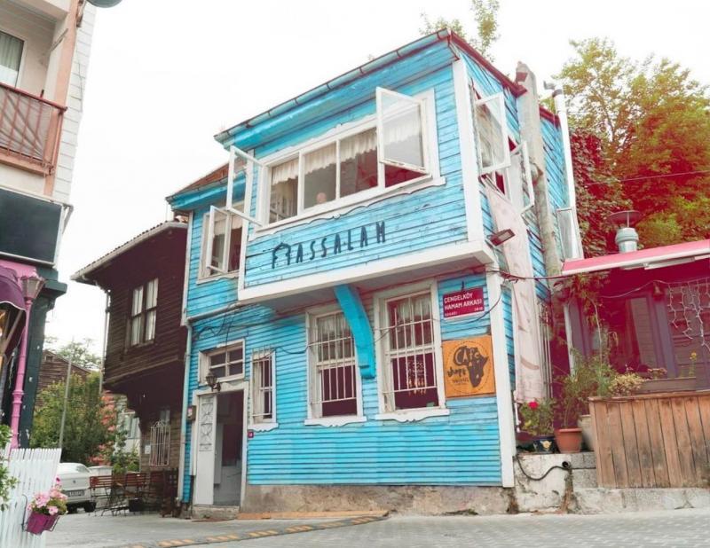 Assalam Vakfı'nın Türkiye'deki ilk binası; Mavi Ev.jpg