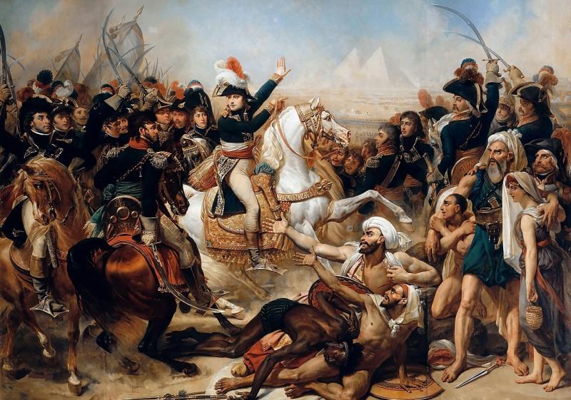 Napolyon'un Mısır'ı işgali, Baron Antoine-Jean Gros tarafından Pramitler Savaşı diye resmedildi-1810.jpg