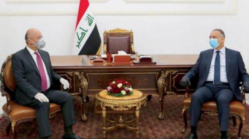 Cumhurbaşkanı Berham Salih ile Başbakan Kazımi buluşması-ikisi de tehdit edildi.jpg
