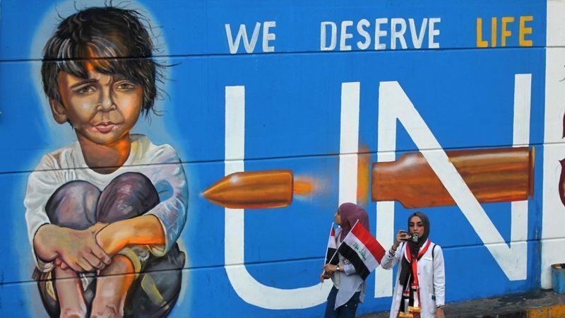 Irak-Biz yaşamayı hakediyoruz sloganı tasviri-BBC.jpg