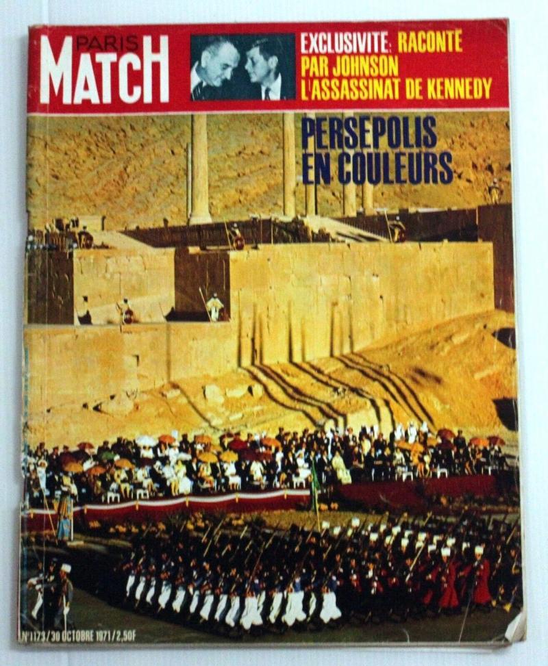 Persepolis şenliklerini kapak konsu yapan Fransız Paris Match dergisi.jpg