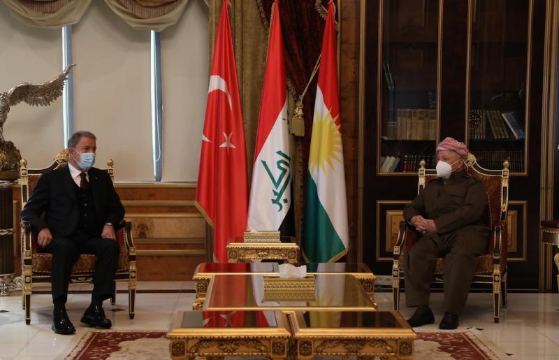 Hulusi Akar - Mesud Barzani
