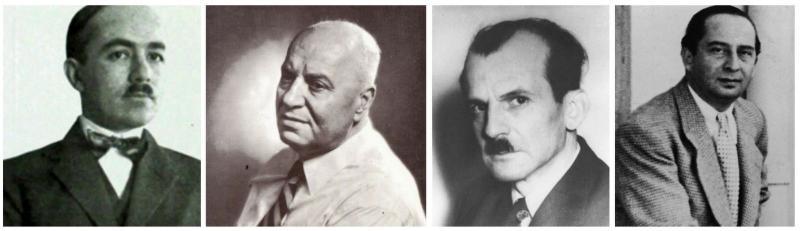 Yakup Kadri Karaosmanoğlu, Şevket Süreyya Aydemir, Vedat Nedim Tör ve Burhan Asaf Belge.jpg