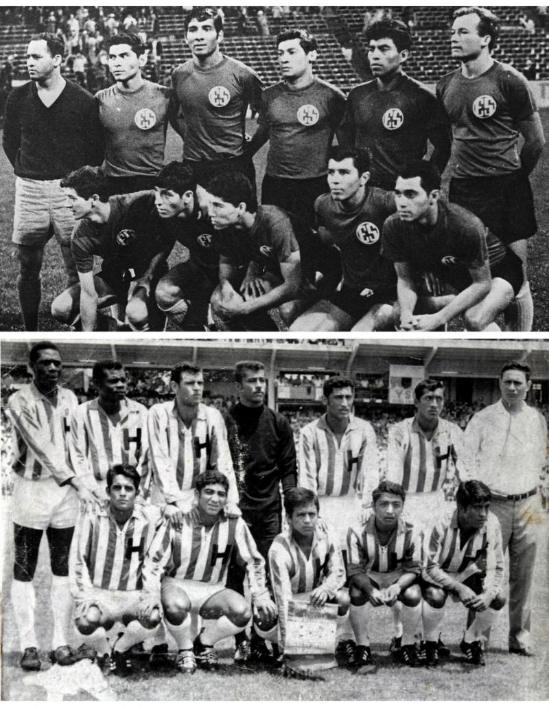 El Salvador (üstte) ve Honduras takımları.jpg
