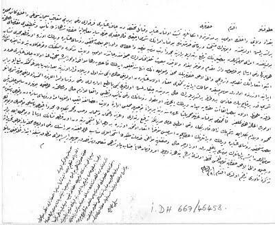 Osmanlı Arşivinde Caf Aşireti belgesi.jpg