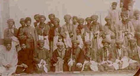 İran'daki Qajar (Kaçar) yönetimi devrinde Caf aşiret beyleri, İran 1906, kaynak- S. Jaff.jpg