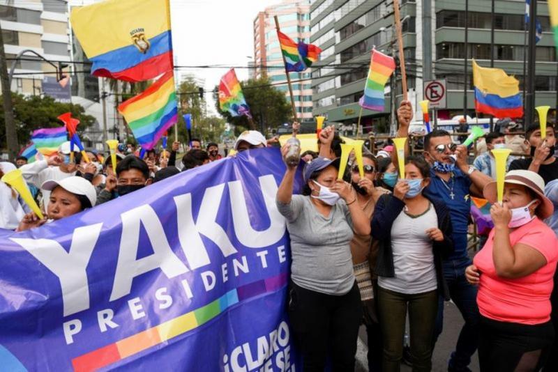 Yaku Perez'in destekçileri REUTERS Santiago Arcos.jpg
